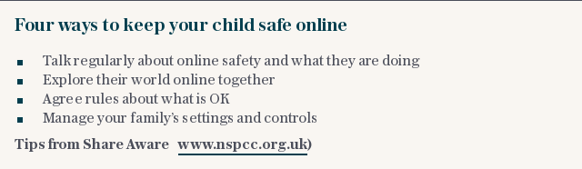 Four ways to keep your child safe online