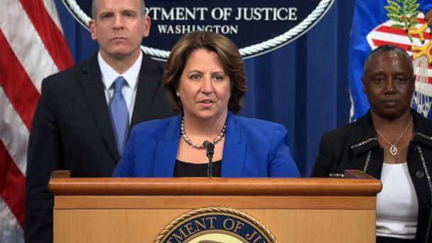 PHOTO: United States Deputy Attorney General Lisa Monaco talks about the Justice Department's seizure of ransom money paid by Colonial Pipeline to hackers after a ransomware attack, June 7, 2021. (ABC News)