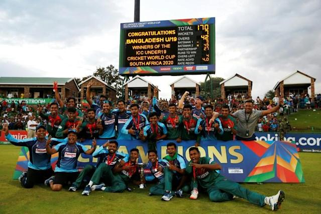 Bangladesh won the ICC Under-19 World Cup for the first time earlier this month (AFP Photo/MICHELE SPATARI)