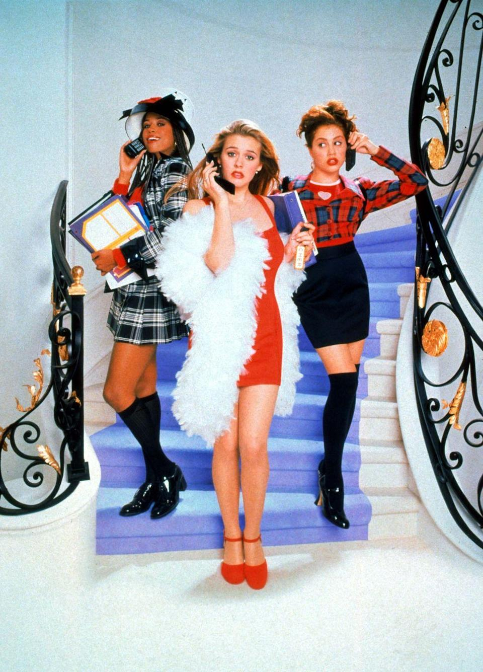 <p>Cher Horowitz's Mary Janes with knee-high socks from <em>Clueless </em>summed up the '90s fashion scene perfectly.</p>