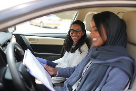 The Wider Image: Saudi women drivers get ready to steer their lives