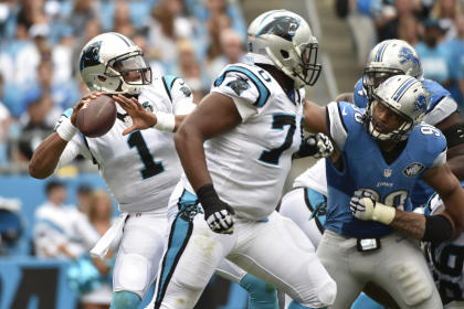 Cam Newton poked fun at Detroit's top defensive player and lived to tell about it. (USA TODAY Sports)