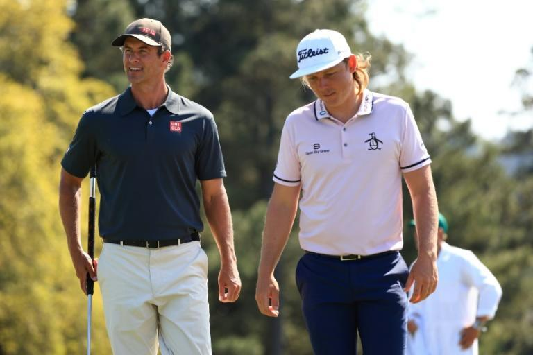 Australians Adam Scott, left, and Cameron Smith played a practice round together Monday at Augusta National ahead of Thursday's start of the 85th Masters