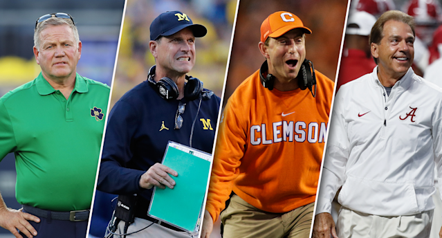 Which coaches have it easy and which have it the toughest this college football season? (Getty/Yahoo Sports)