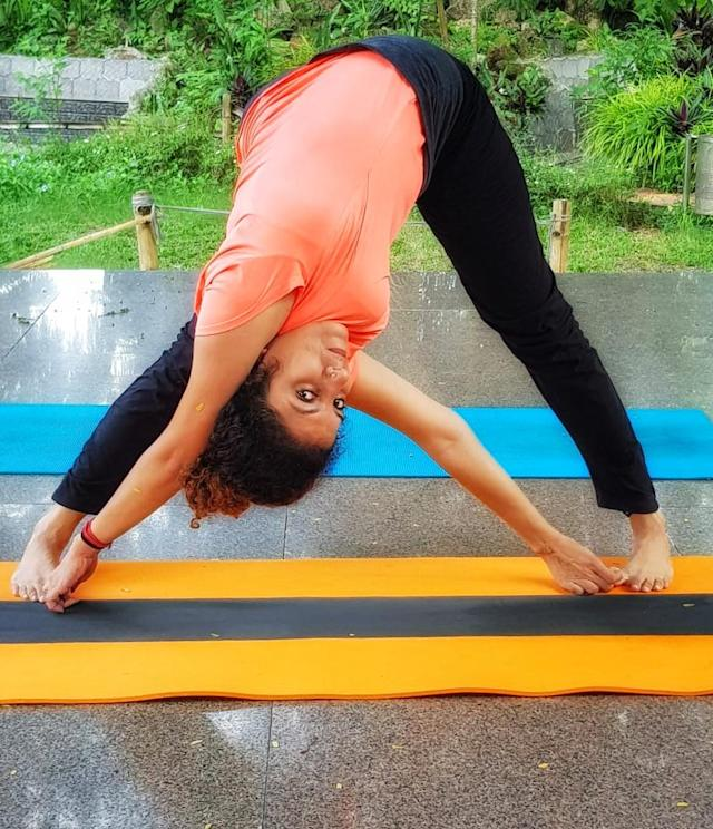 Yoga is not a performance. It is your journey. The more you involve yourself, the more devotion you have for your practice the more your body will follow.<br><em>(Please do not try these poses at home without the help of a certified instructor.)</em>
