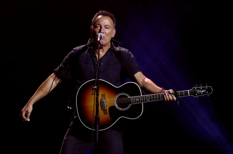FILE PHOTO: Springsteen performs during the closing ceremony for the Invictus Games in Toronto during the Invictus Games in Toronto