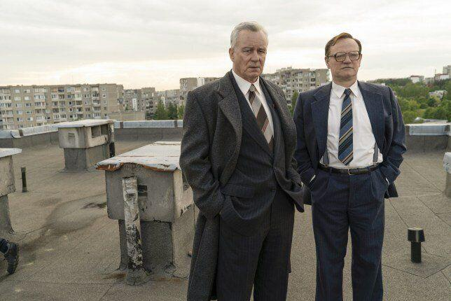 Skarsgard and Harris in Chernobyl (Credit: HBO)