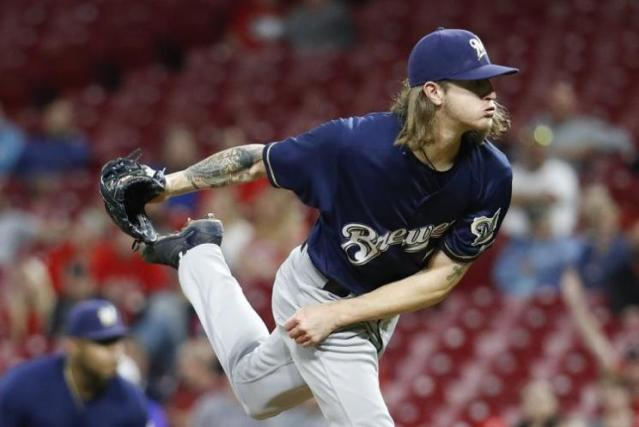The Milwaukee Brewers strong start has been lead by ace reliever and strikeout machines Josh Hader. (AP)