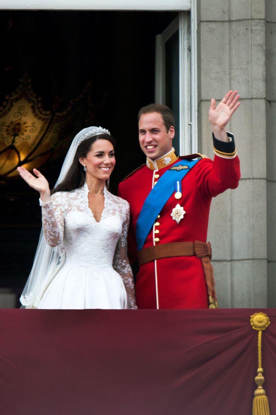 """<p>After a very public royal wedding, Kate and William held a more intimate, 300-person reception. The details of the party remain somewhat secretive, but one of the dinner menus was leaked, revealing that the newlyweds served lamb as the main course. </p><p><em><a href=""""https://www.express.co.uk/life-style/life/874288/kate-middleton-wedding-duchess-of-cambridge-prince-william-menu-food"""" rel=""""nofollow noopener"""" target=""""_blank"""" data-ylk=""""slk:Express"""" class=""""link rapid-noclick-resp"""">Express</a></em> pointed out that lamb is a rather controversial meat because it's either a hit or miss with people—s0, if their guests didn't like it, that would be a lot of wasted food. </p>"""