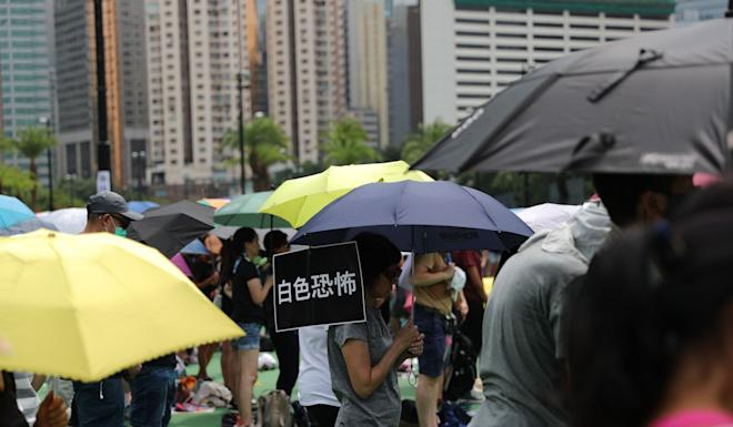 The authorised rally started at about lunchtime on Sunday. Photo: Sam Tsang