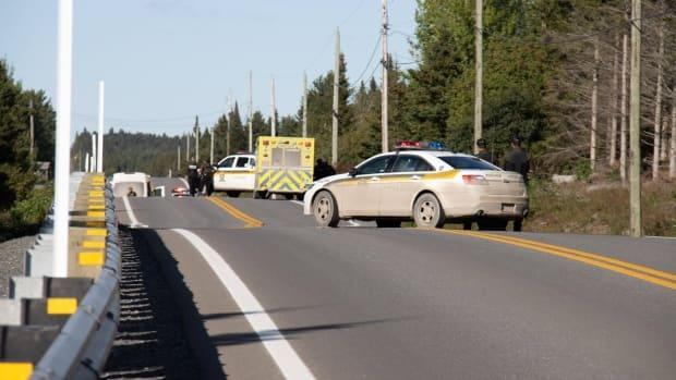 A police operation is still underwayon Chemin de la Coulée-Carrier in Sainte-Paule, Que.,in connection with the case. The SQ is urging people to avoid the area.  (Radio-Canada - image credit)