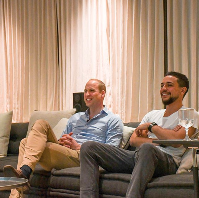 <p>Crown Prince Hussein bin Abdullah has made headlines around the world after being pictured watching the World Cup with Prince William. Photo: Instagram/alhusseinjo </p>