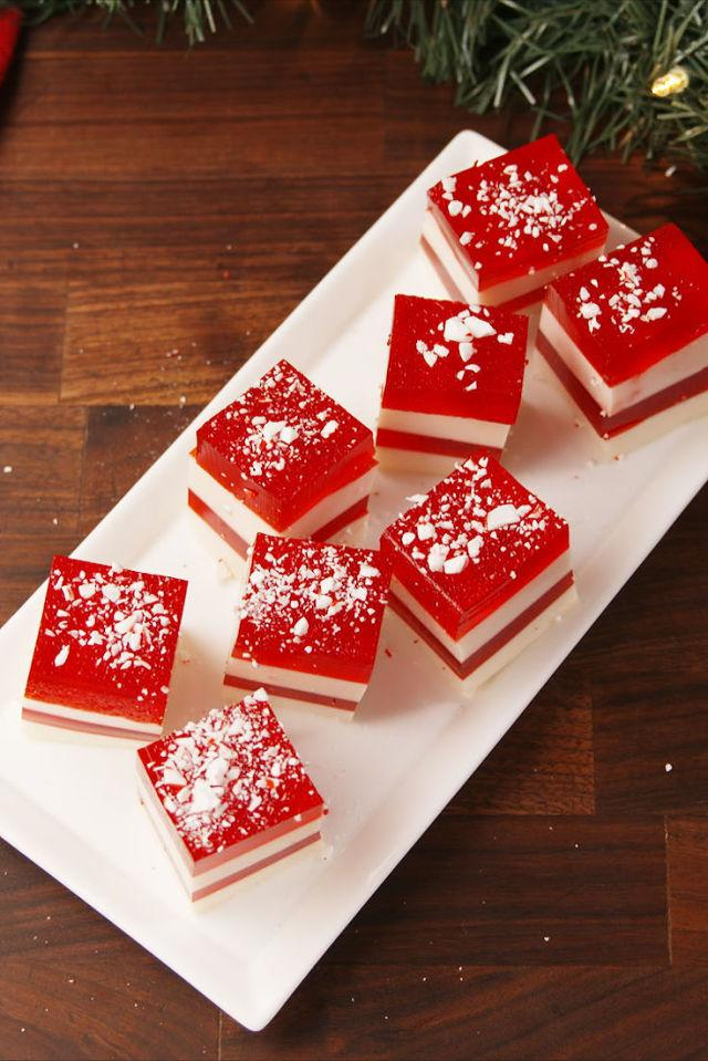 "<p>For when you need a little jingle in your step.</p><p>Get the recipe from <a rel=""nofollow"" href=""http://www.delish.com/cooking/recipe-ideas/recipes/a57096/candy-cane-jell-o-shots-recipe/"">Delish</a>.</p><p><strong><em>BUY NOW: Tito's Vodka, $20, <a rel=""nofollow"" href=""https://drizly.com/titos-handmade-vodka/p304?is_autocomplete=true"">drizly.com</a>.</em></strong></p>"
