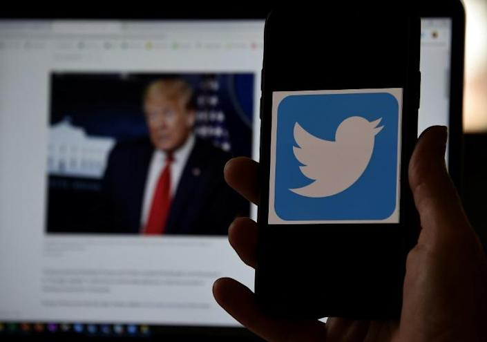 A clash between President Donald Trump and Twitter has escalated in recent days, but more fireworks may be coming if the platform uses additional moderation tools (AFP Photo/Olivier DOULIERY)