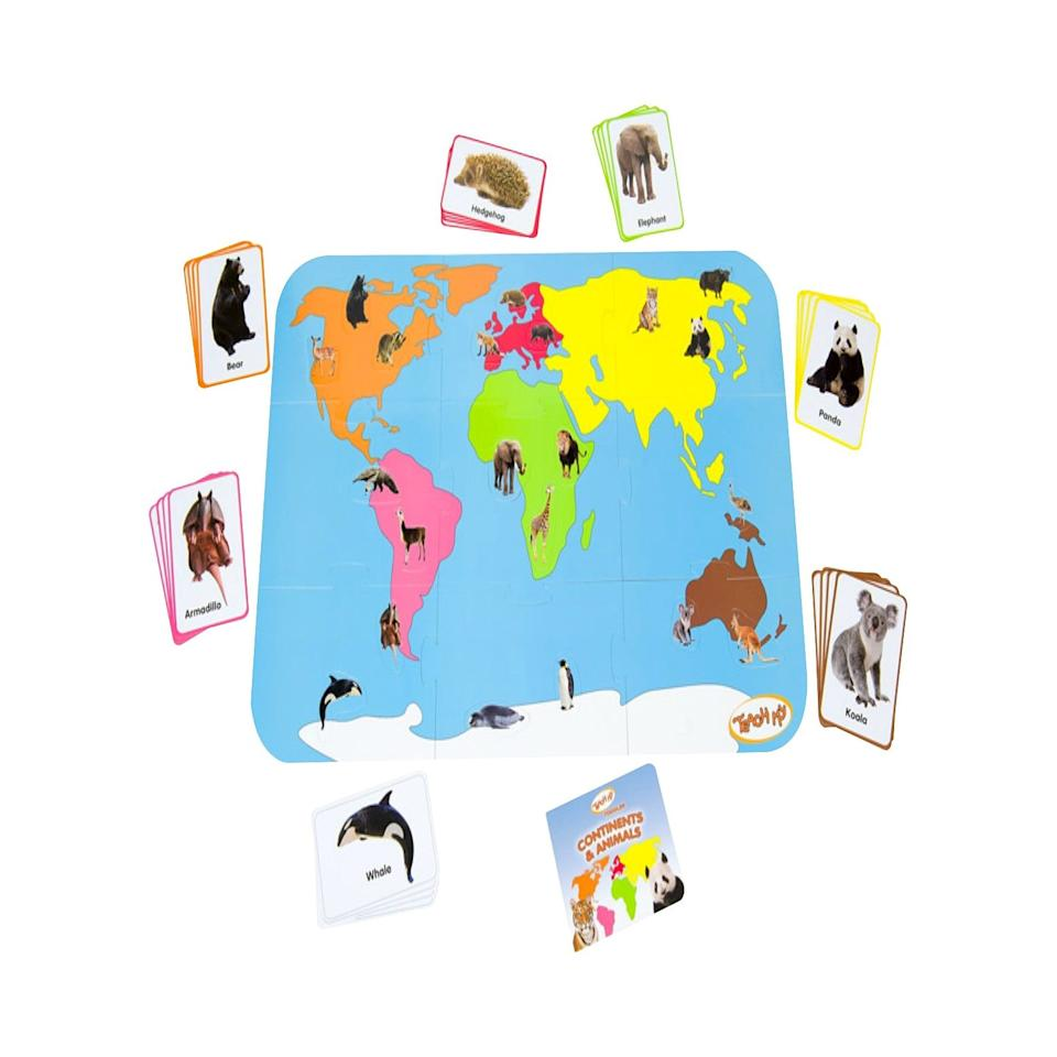 "<p>It's never too early to learn geography, and thanks to this <a href=""https://www.popsugar.com/buy/Teach-My-Toddler-Continents-amp-Animals-515510?p_name=Teach%20My%20Toddler%20Continents%20%26amp%3B%20Animals&retailer=smile.amazon.com&pid=515510&price=9&evar1=moms%3Aus&evar9=46016590&evar98=https%3A%2F%2Fwww.popsugar.com%2Fphoto-gallery%2F46016590%2Fimage%2F46016597%2FTeach-My-Toddler-Continents-Animals&list1=gifts%2Ctarget%2Choliday%2Ctoys%2Cgift%20guide%2Cgifts%20under%20%2425%2Cgifts%20for%20kids%2Cbaby%20shopping%2Cgifts%20for%20babies%2Cgifts%20for%20toddlers%2Cbest%20of%202019&prop13=api&pdata=1"" rel=""nofollow"" data-shoppable-link=""1"" target=""_blank"" rel=""nofollow"" class=""ga-track"" data-ga-category=""Related"" data-ga-label=""http://smile.amazon.com/dp/B00J40HNPC?tag=amz-mkt-chr-us-20&amp;ascsubtag=1ba00-01000-org00-mac00-other-smile-us000-pcomp-feature-pcomp-wm-8-wm-1&amp;ref=aa_pcomp"" data-ga-action=""In-Line Links"">Teach My Toddler Continents &amp; Animals</a> ($9), your toddler can learn all about the different wild animals all over the world.</p>"