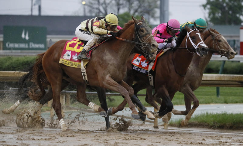 The Latest: Country House pays $132.40 to win at Derby