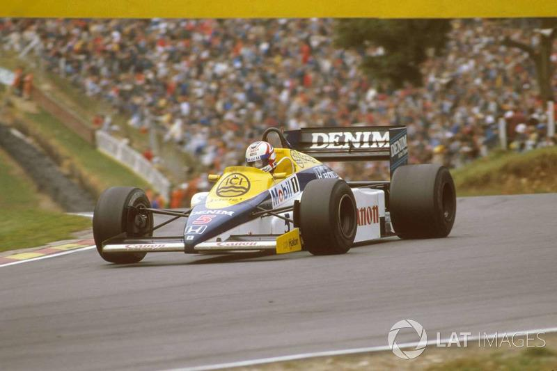 "Nigel Mansell - Williams FW10 Honda - GP de Europa 1985<span class=""copyright"">LAT Images</span>"