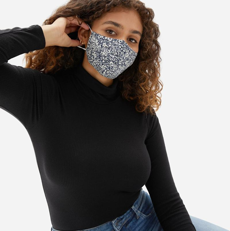 Everlane's new floral face masks are now available for pre-order — but hurry!