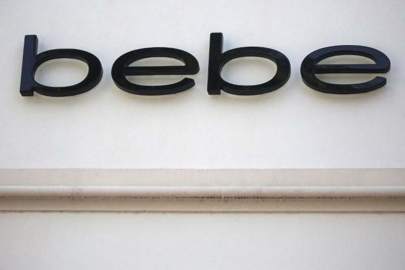 A Bebe store logo is pictured on a building along the Lincoln Road Mall in Miami Beach