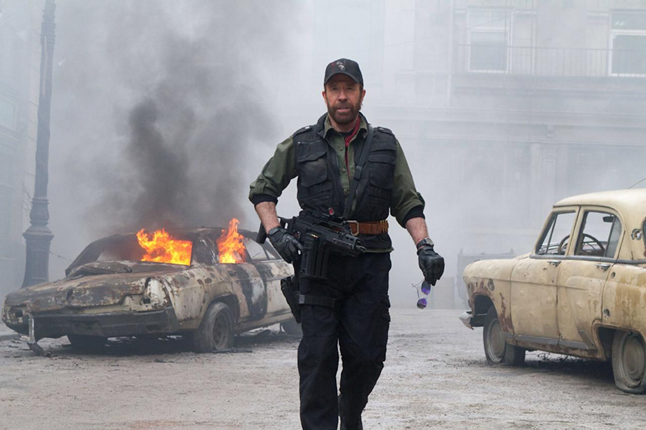 "<b>Chuck Out of Luck</b><br>It was rated R, but Chuck Norris looked at it and made it PG-13. Well, not really... You see, six months ago Norris <a href=""http://screenrant.com/expendables-2-rating-chuck-norris-sandy-147505/"">claimed such</a>: ""In 'Expendables 2,' there was a lot of vulgar dialogue in the screenplay. For this reason, many young people wouldn't be able to watch this. But I don't play in movies like this. Due to that I said I won't be a part of that if the hardcore language is not erased. Producers accepted my conditions and the movie will be classified in the category of PG-13."" At the risk of losing life and limb to one of Norris' fatal roundhouse kicks, gulp, ""The Expendables 2"" is actually rated R."