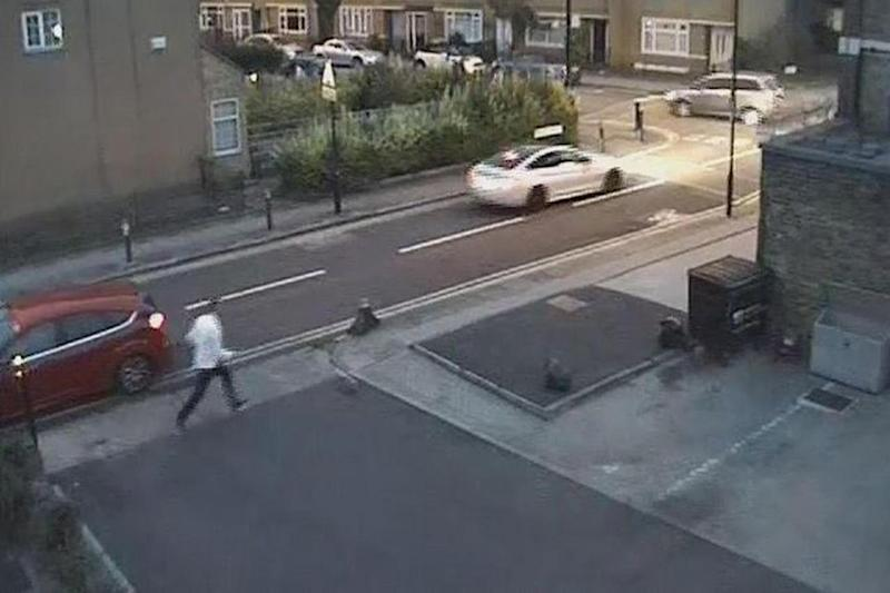 Witnesses appeal: Two people who may have seen the car speed past have been urged to come forward (Met Police)