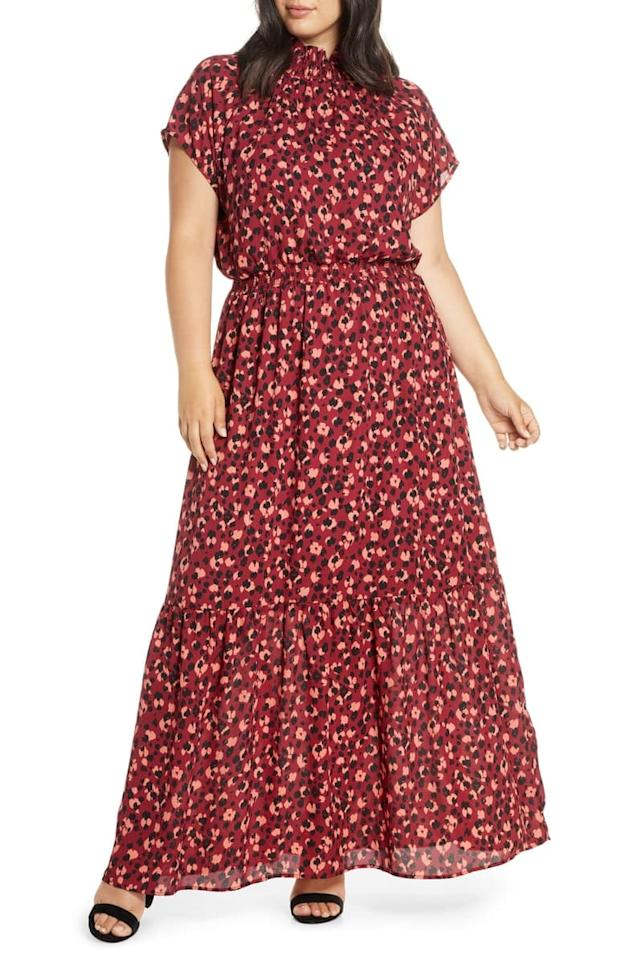 """<p>You'll never tire of wearing this <a href=""""https://www.popsugar.com/buy/Gibson-x-City-Safari-Jaime-Shrayber-Smock-Neck-Maxi-Dress-484445?p_name=Gibson%20x%20City%20Safari%20Jaime%20Shrayber%20Smock%20Neck%20Maxi%20Dress&retailer=shop.nordstrom.com&pid=484445&price=88&evar1=fab%3Auk&evar9=45208505&evar98=https%3A%2F%2Fwww.popsugar.com%2Ffashion%2Fphoto-gallery%2F45208505%2Fimage%2F46581902%2FGibson-x-City-Safari-Jaime-Shrayber-Smock-Neck-Maxi-Dress&list1=shopping%2Cfall%20fashion%2Cdresses%2Cfall%2Ccurvy%20fashion&prop13=api&pdata=1"""" rel=""""nofollow"""" data-shoppable-link=""""1"""" target=""""_blank"""" class=""""ga-track"""" data-ga-category=""""Related"""" data-ga-label=""""https://shop.nordstrom.com/s/gibson-x-city-safari-jaime-shrayber-smock-neck-maxi-dress-plus-size/5390823?origin=category-personalizedsort&amp;breadcrumb=Home%2FWomen%2FClothing%2FPlus-Size%20Clothing%2FNew%20Arrivals&amp;color=ditsy%20cheetah"""" data-ga-action=""""In-Line Links"""">Gibson x City Safari Jaime Shrayber Smock Neck Maxi Dress</a> ($88).</p>"""