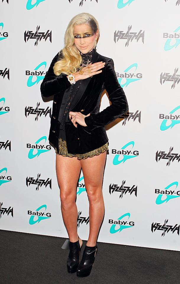BEVERLY HILLS, CA - OCTOBER 29: Ke$ha unveils her new 'Baby G' watch line design at SLS Hotel on October 29, 2012 in Beverly Hills, California. (Photo by JB Lacroix/WireImage)