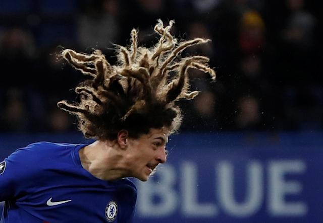 Soccer Football - FA Cup Fifth Round - Chelsea vs Hull City - Stamford Bridge, London, Britain - February 16, 2018 Chelsea's Ethan Ampadu in action Action Images via Reuters/Paul Childs