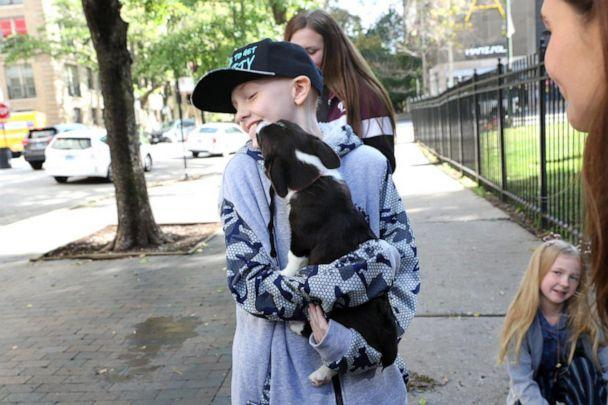 PHOTO: Michelle Boyer, Johnny's mom, said that the bond between Johnny and his new puppy was instantaneous. (Courtesy Jan Terry, Lurie Children's Hospital)