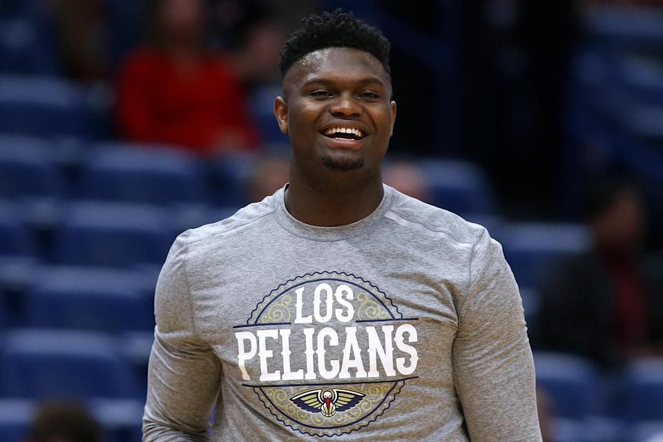 "No. 1 overall pick <a class=""link rapid-noclick-resp"" href=""/nba/players/6163/"" data-ylk=""slk:Zion Williamson"">Zion Williamson</a> has just 19 NBA games under his belt. (Jonathan Bachman/Getty Images)"