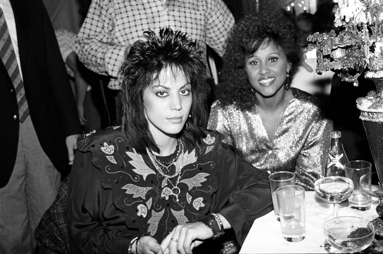 <p>Joan Jett and Darlene Love wore OTT outfits with Western embroidery and metallics in 1985.</p>