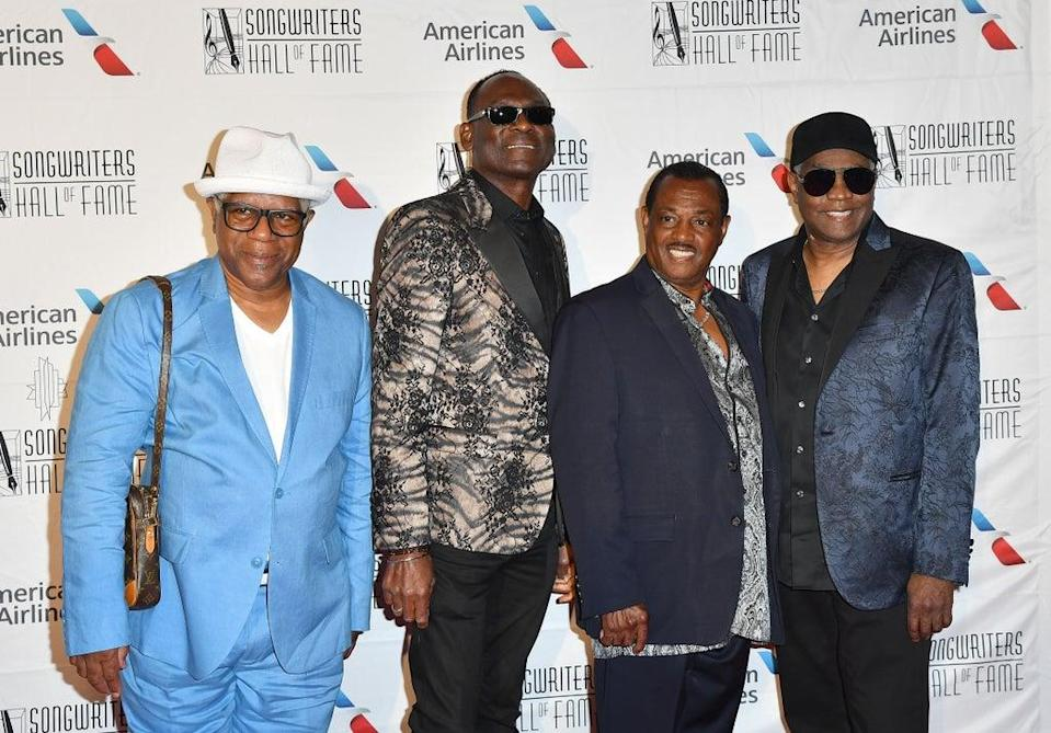 Thomas (left) with Kool & the Gang at the Songwriters Hall of Fame 49th Annual Induction and Awards Dinner in 2018 (AFP/Getty)
