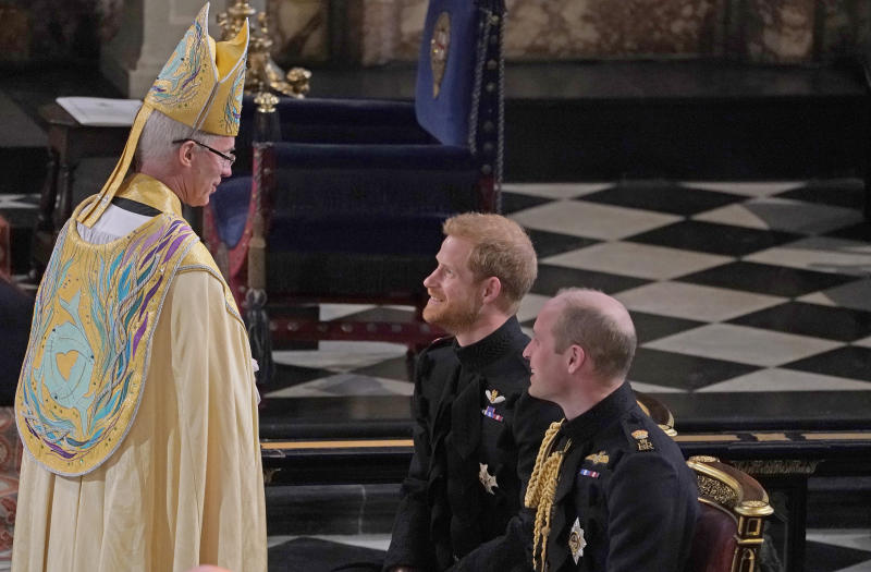 Justin Welby has long been close to the Duke of Cambridge (pictured at Prince Harry's wedding to Meghan Markle in 2018) (Getty Images)