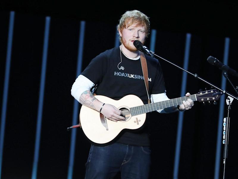 Ed Sheeran performs during the Global Citizen Festival: Mandela 100: Getty Images for Global Citizen