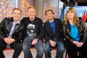 From left: David Cassidy, Danny Bonaduce, Brian Forster and Suzanne Crough on the Today show