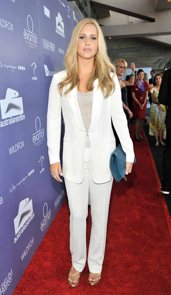 CENTURY CITY, CA - JUNE 27:  Actress Claire Holt arrives at Australians In Film Awards & Benefit Dinner at InterContinental Hotel on June 27, 2012 in Century City, California.  (Photo by Toby Canham/Getty Images for AIF)