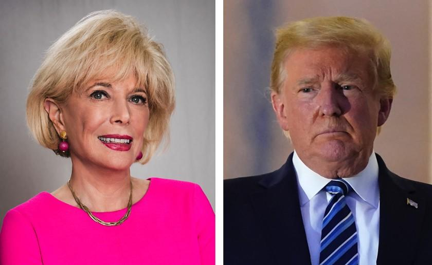 Leslie Stahl, Correspondent for 60 Minutes on CBS and President Donald Trump.