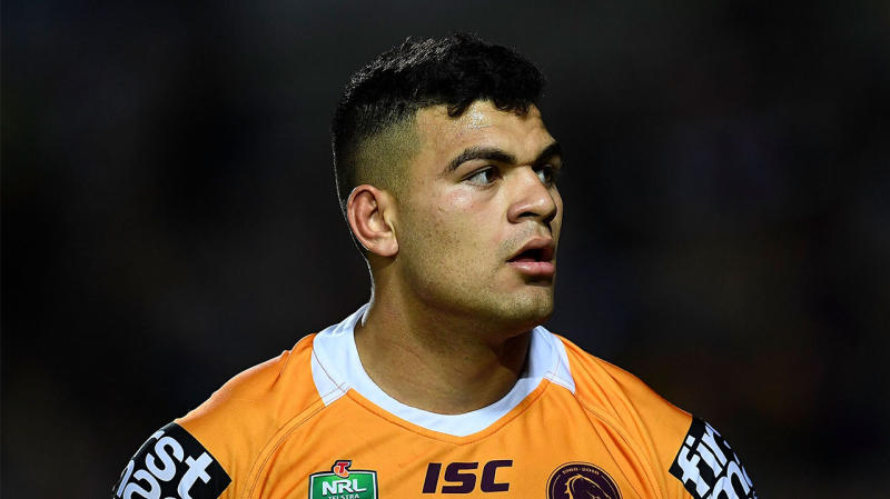 David Fifita playing for the Broncos.