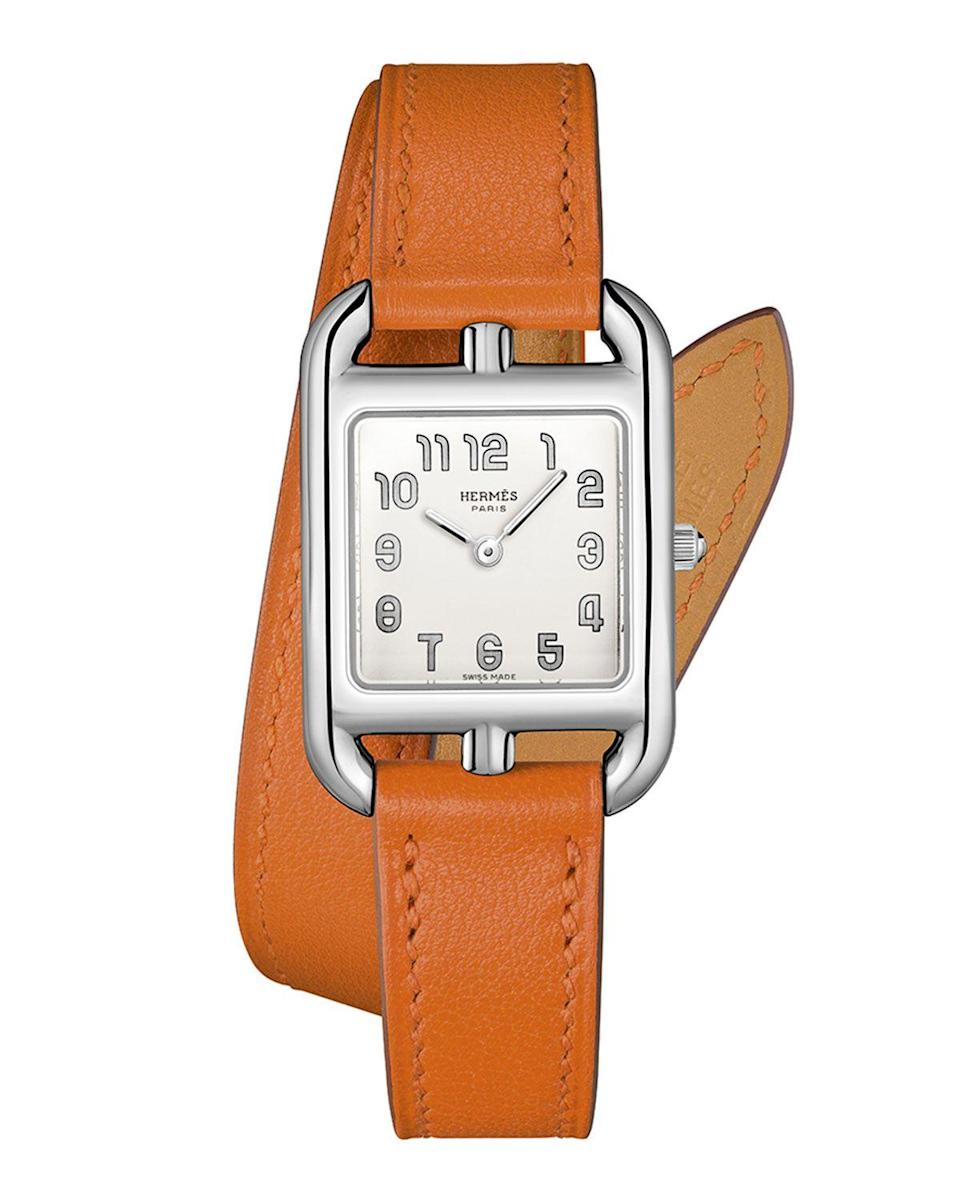 """<p><strong>Hermès Cape Cod Watch</strong></p><p>neimanmarcus.com</p><p><strong>$3000.00</strong></p><p><a href=""""https://go.redirectingat.com?id=74968X1596630&url=https%3A%2F%2Fwww.neimanmarcus.com%2Fp%2Fhermes-cape-cod-watch-23-x-23-mm-prod212710006&sref=https%3A%2F%2Fwww.harpersbazaar.com%2Ffashion%2Ftrends%2Fg30515430%2Fbest-watch-brands-for-women%2F"""" rel=""""nofollow noopener"""" target=""""_blank"""" data-ylk=""""slk:Shop Now"""" class=""""link rapid-noclick-resp"""">Shop Now</a></p><p>Few labels can rival the reputation Hermès has in the world of luxury leather. After all, it started as a manufacturer of accessories for carriages in 1837. It has since become a full-fledged lifestyle brand, introducing timepieces to its stable in 1978. Under the moniker La Montre Hermès SA, the subsidiary operates in Biel, Switzerland, where it creates collections that fall in line with the parent company's heritage. </p><p>And no watch encapsulates this principle more than the Cape Cod. First introduced in 1991, the timepiece was the brainchild of fashion designer Martin Margiela, who was the artistic director of the brand's ready-to-wear line at the time. Seven years later, it introduced a distinct double strap made of leather, further highlighting Hermès's equestrian roots. </p>"""