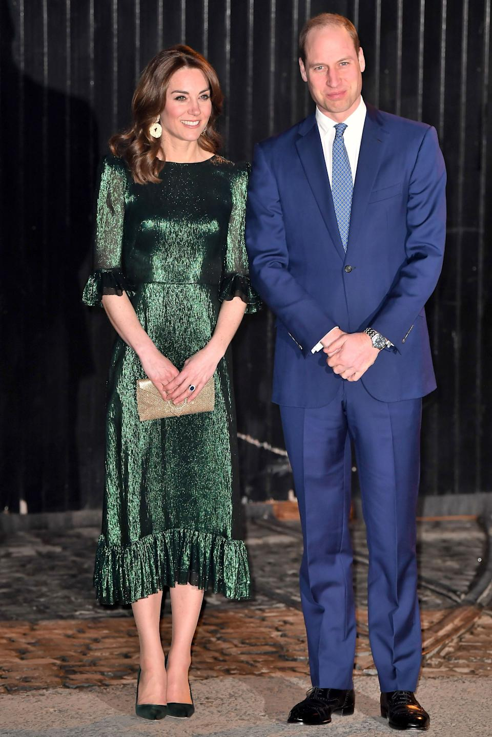 William and Kate attend a special reception hosted by the British ambassador to Ireland at Storehouse's Gravity Bar in Dublin on Tuesday. (Photo: Samir Hussein via Getty Images)