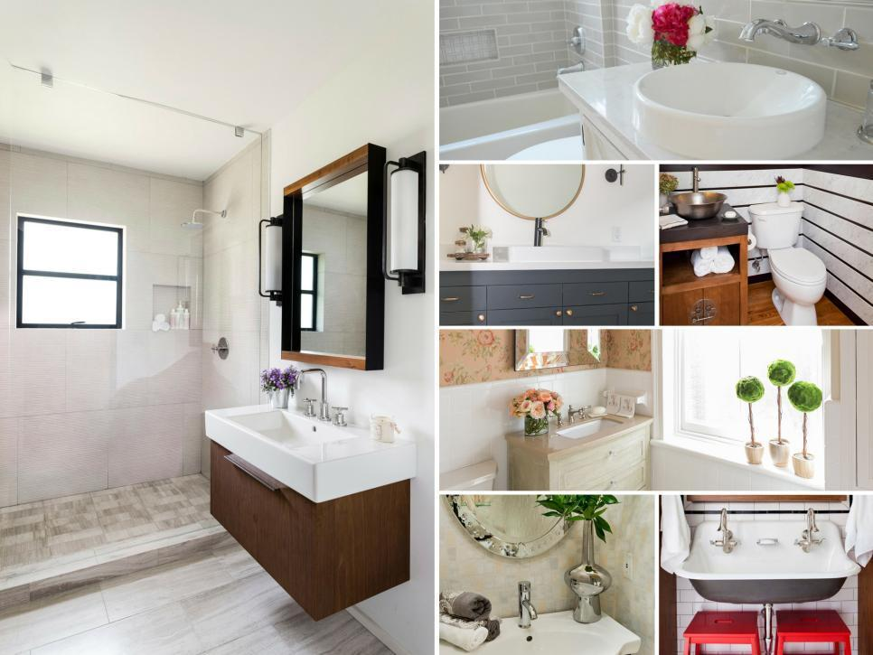 With $5,000 or less, seven designers dramatically overhaul seven dreary and outdated bathrooms. See the before-and-after photos and steal their budget-friendly ideas for your own bath remodel.