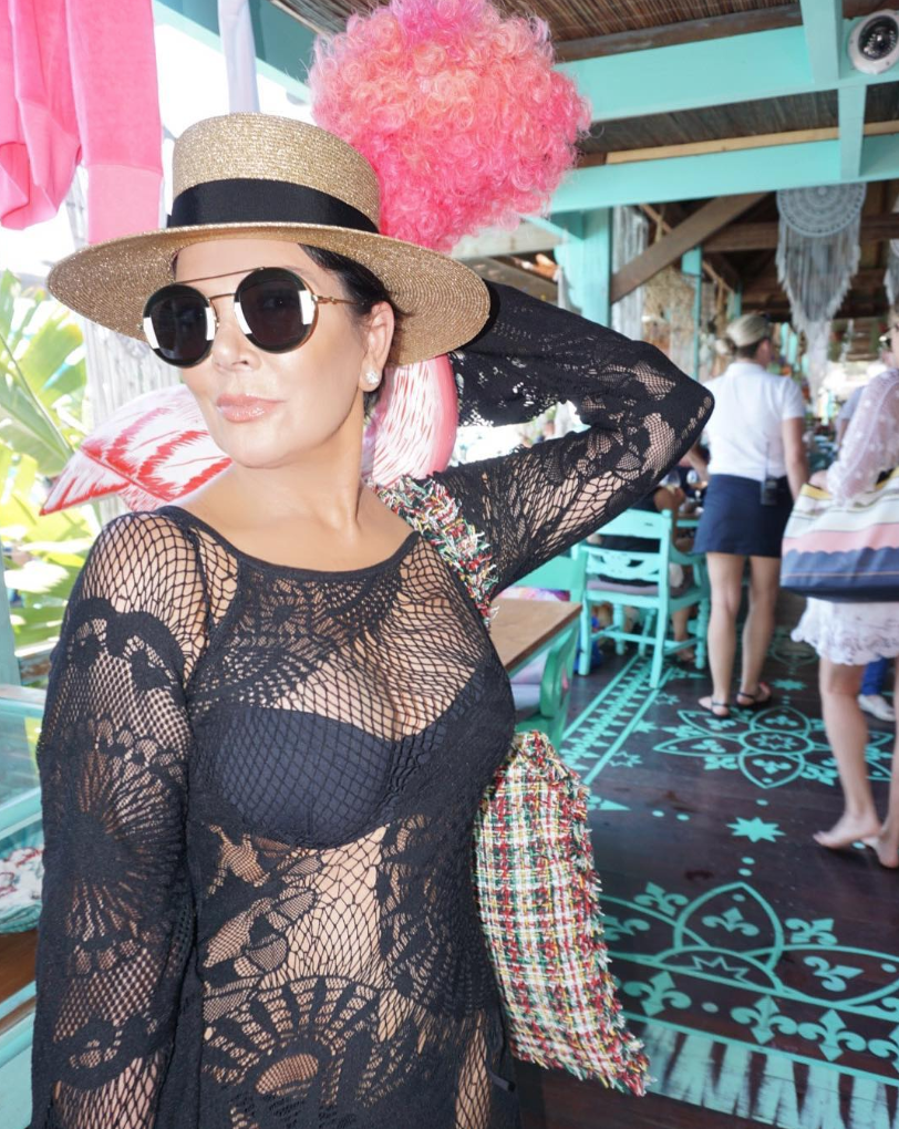 <p>Kris Jenner, momager to the Kardashians, is 62 and still sporting a bikini. (Photo: Instagram/Kris Jenner) </p>