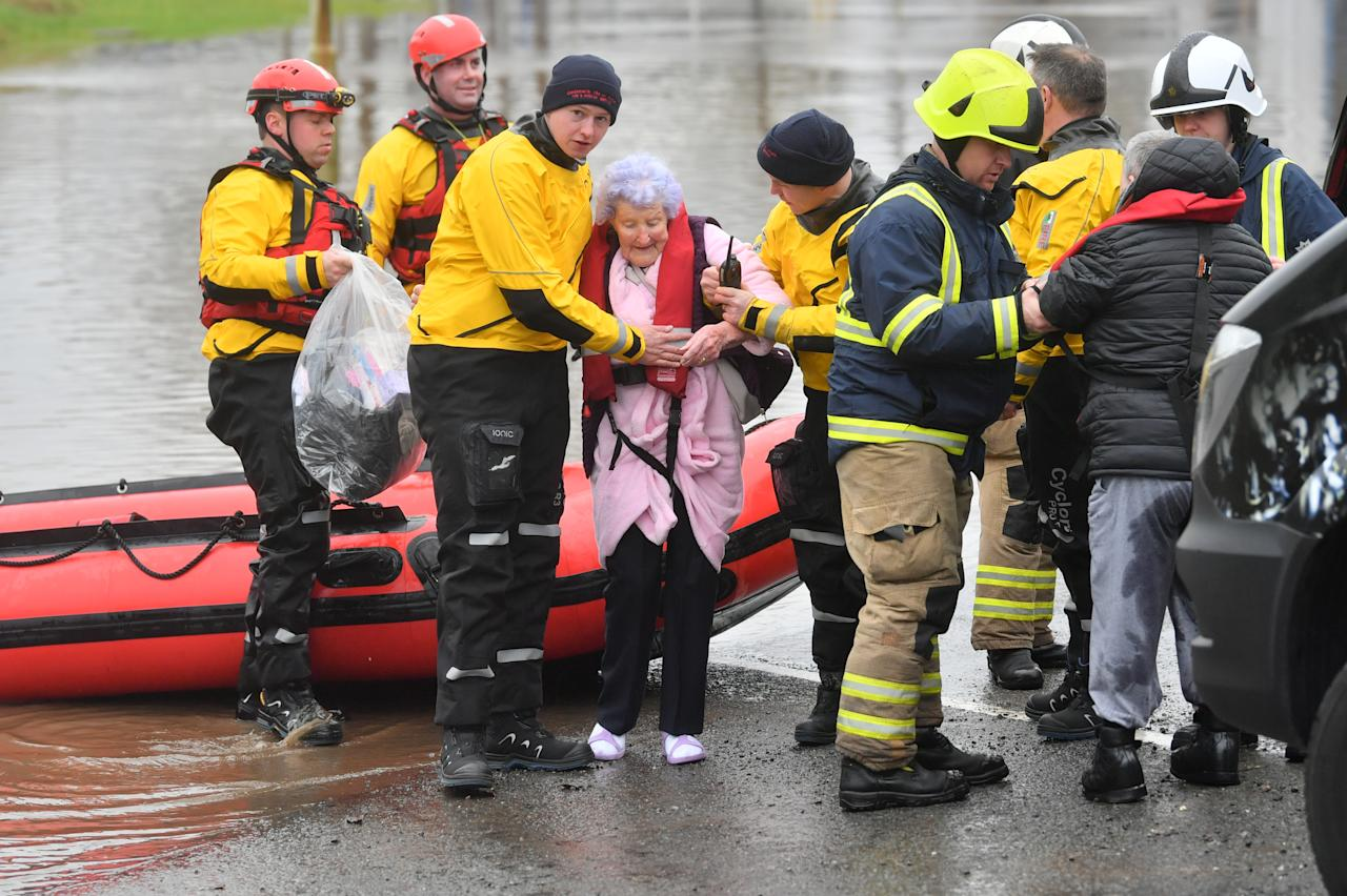 Hundreds of people have been trapped by the flooding. (PA)