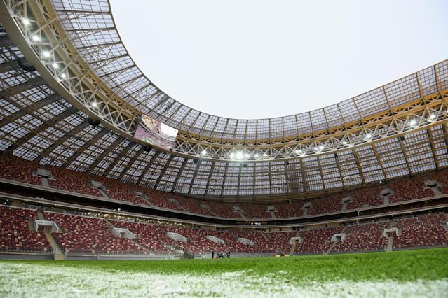 The Luzhniki Stadium in Moscow will host the 2018 World Cup final. (Getty)