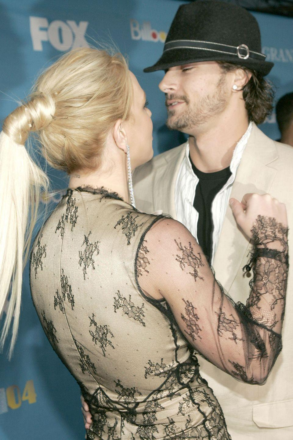 """<p>Oops, she did it again—and by it, we mean, had another tattoo mishap. If you look closely at <a href=""""http://www.smosh.com/smosh-pit/articles/8-celebrity-tattoo-disasters"""" rel=""""nofollow noopener"""" target=""""_blank"""" data-ylk=""""slk:the back of Spears' neck"""" class=""""link rapid-noclick-resp"""">the back of Spears' neck</a>, you can see a small tattoo near her hairline. It was supposed to say """"God"""" in Hebrew, but was reportedly misspelled and removed later.</p>"""