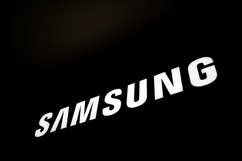 The logo of Samsung Electronics is seen at company's headquarters in Seoul
