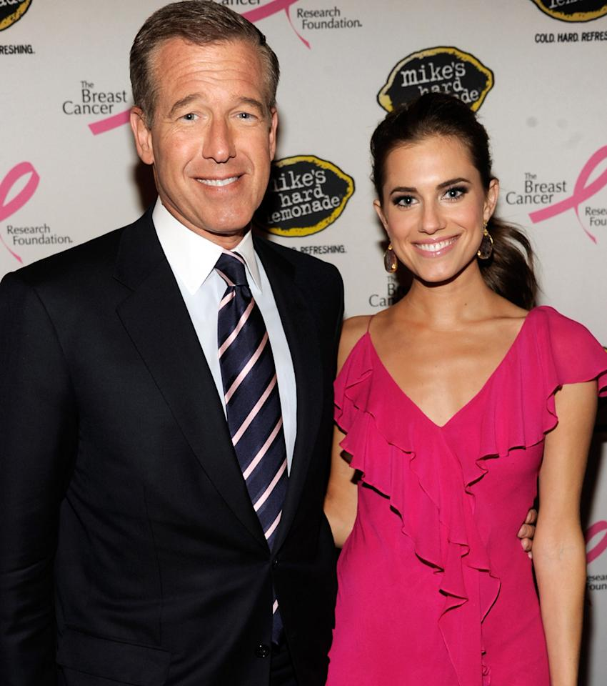 Brian Williams and Allison Williams attend the Breast Cancer Foundation's Hot Pink Party at Waldorf Astoria Hotel on April 30, 2012 in New York City.  (Photo by Kevin Mazur/WireImage)