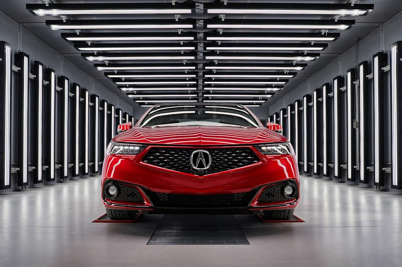 <p>Acura doesn't even shoehorn the NSX's hybrid powertrain into the TLX, or redo the interior in some wacky material or color.</p>