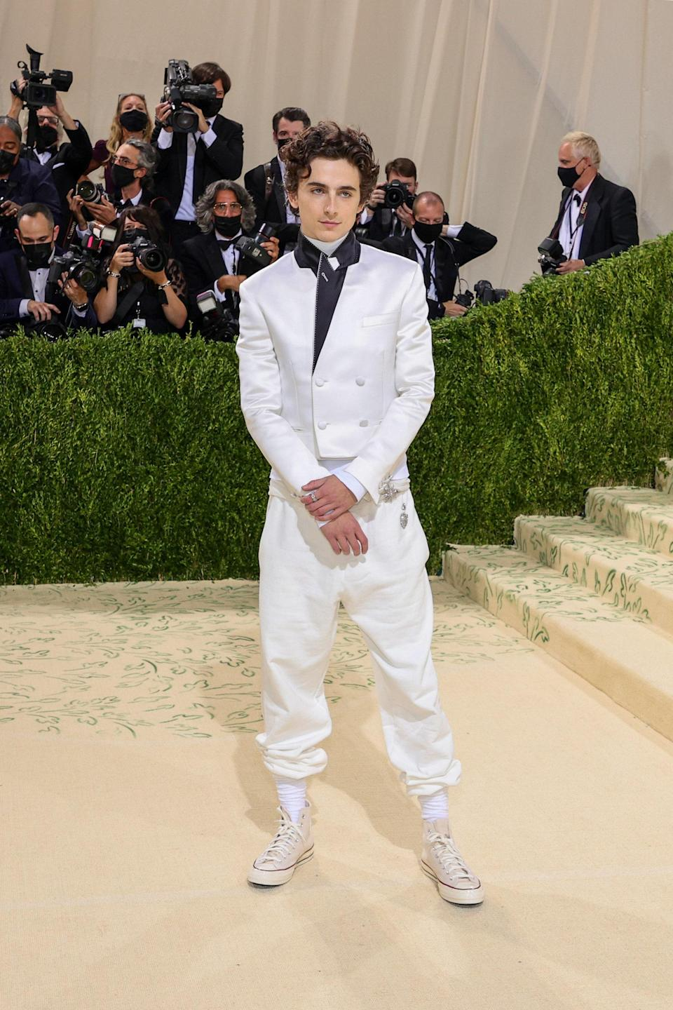 """<h1 class=""""title"""">Timothée Chalamet in Haider Ackermann, Rick Owens, and Converse</h1><cite class=""""credit"""">Photo: Getty Images</cite>"""