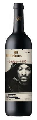 A rendering of the 19 Crimes Snoop Cali Red wine bottle.